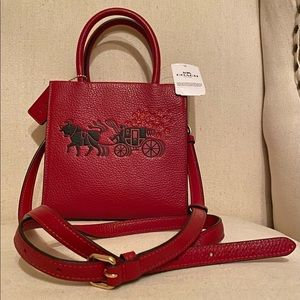 "Coach ""Ox and Carriage"" crossbody leather bag"